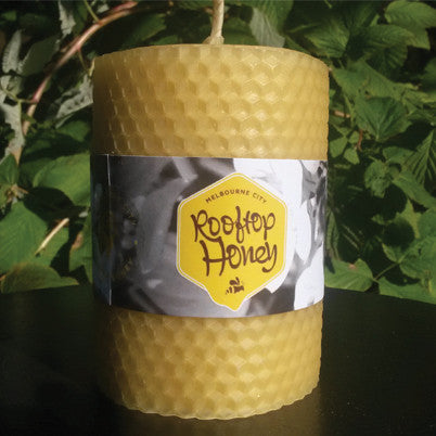 Beeswax - Local Melbourne Rolled Candle