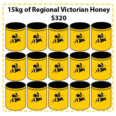 Off Site Hive Sponsorships - 15kg Regional Victorian Honey