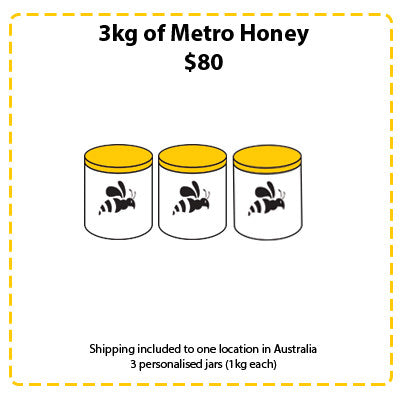 Off Site Hive Sponsorships - 3kg Metro Honey