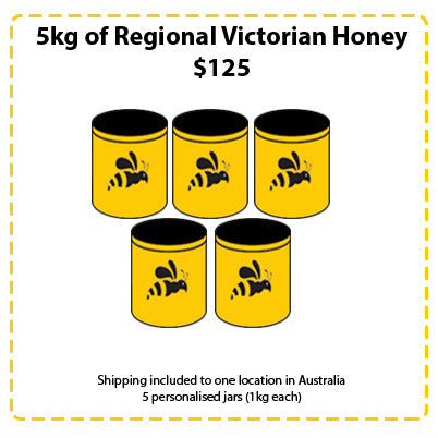 Off Site Hive Sponsorships - 5kg Regional Victorian Honey