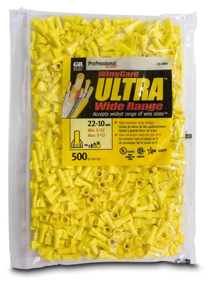 Gardner Bender 13-084 WingGard ULTRA, Yellow, #84; 500/Bag