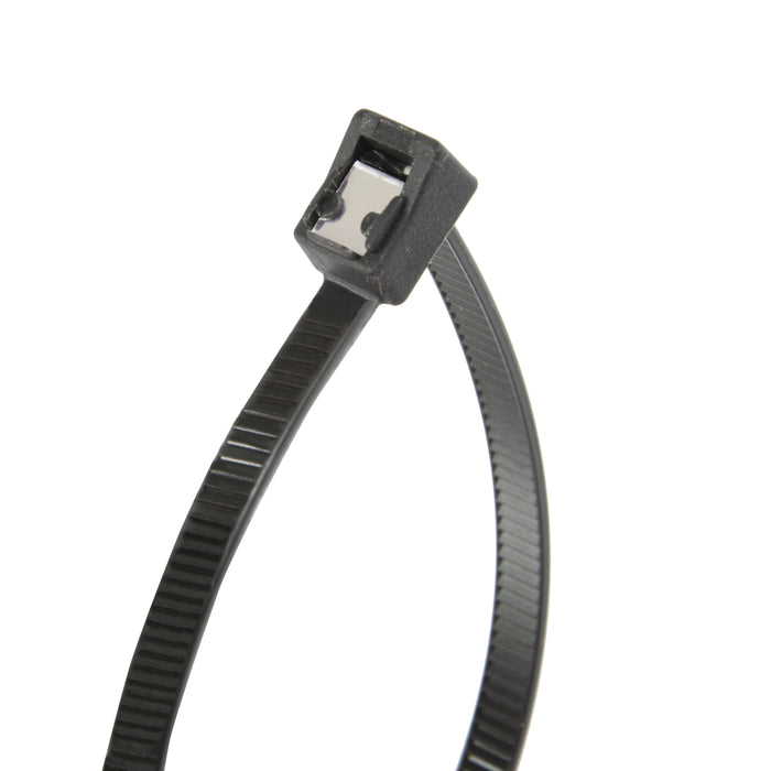 "Gardner Bender 46-308UVBSC 8"" Self Cutting Cable Tie, black, 50lb; 50 per bag"