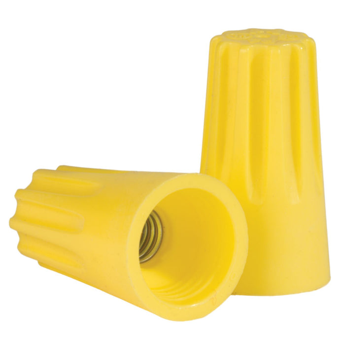 King Innovation 67041 Contractor's Choice Yellow Nut Connector; 500/Bag