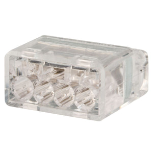King Innovation 67225 Contractor's Choice 4-Port Push-in Wire Conector, Ivory; 75/Box