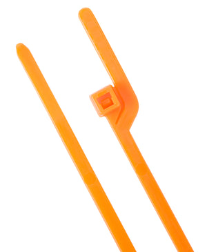 "Gardner Bender CTEZ6-40100NG Cable Tie EZ Off 6"" 40lb Orange; 100/Bag"