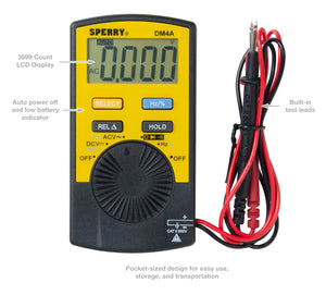 Sperry Instruments DM4A Pocket Digital Multimeter