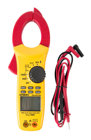 Sperry Instruments DSA1020TRMS Digital Clamp Meter, 1000A AC/DC, TRMS, Temp