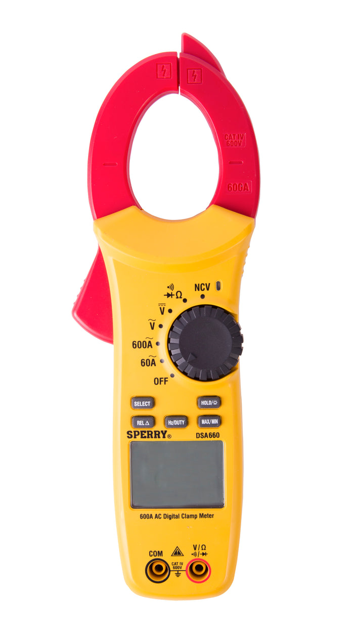 Sperry Instruments DSA660 Digital Clamp Meter, 600A AC