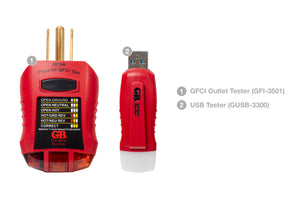 Gardner Bender EGB-1 USB Tester and GFCI Outlet Tester Kit