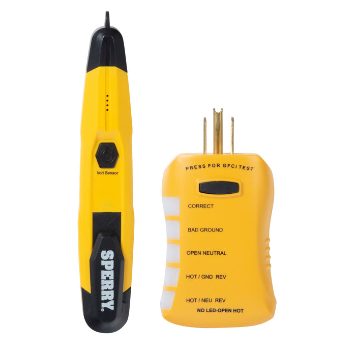 Sperry Instruments ESK2 Non-Contatc Voltage Tester and GFCI Outlet Tester Kit