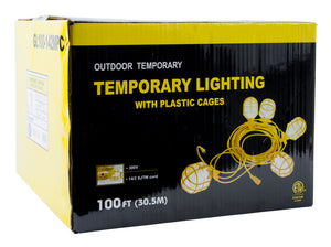 Bergen Industries GL100142MPC Temp Light String, 14/2, 100ft, 15A Male & Female