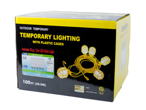 Bergen Industries GL100142STK Temp Light String, 14/2, 100ft, 15A Male & Female LED Included