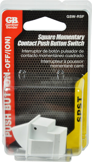 Gardner Bender GSW-RSF Square Momentary Contact Refrigerator Switch Momentary Off