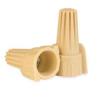King Innovation 67081 Contactor's Choice Wing Connector, Tan; 500/Bag