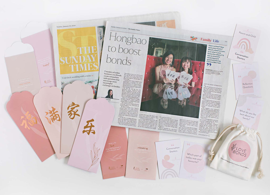 Love Bonds featured on The Straits Times