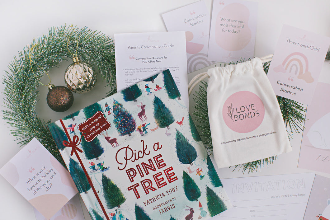 [Below $40] Pick a Pine Tree Christmas Book & Conversation Guide + Parent-and-Child Conversation Starters