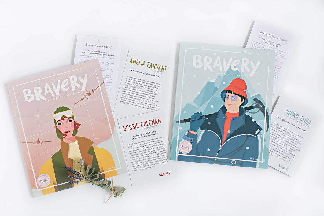 2 Bravery Magazines Bundle (Issues 5 & 6) + Conversation Guides