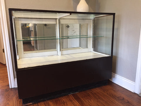 mirrored back display case