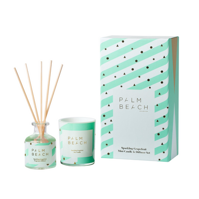 Sparkling Grapefruit Mini Candle & Diffuser Gift Pack