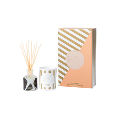 Prosecco Rose` Christmas Mini Candle & Diffuser Gift Pack