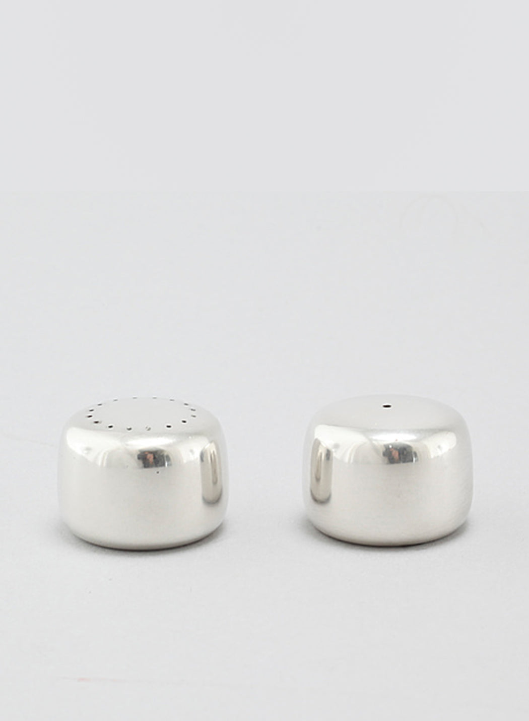 Vintage Georg Jensen Minimalist Salt + Pepper Shakers by Henning Koppel