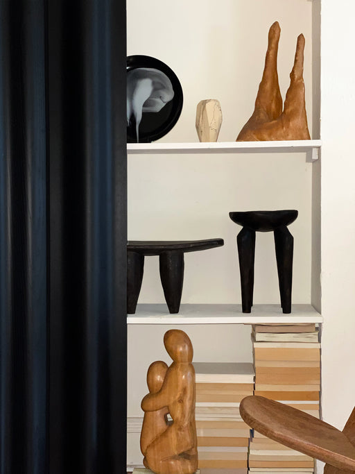 Black Senufo Stool from Sri Lanka by Tucker Robbins