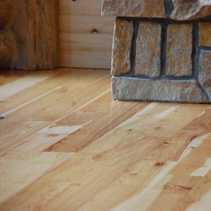 Character Hickory in Rustic Cabin