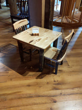 Load image into Gallery viewer, Child Table and Chair Set 1 Hickory Table and 2 Chairs