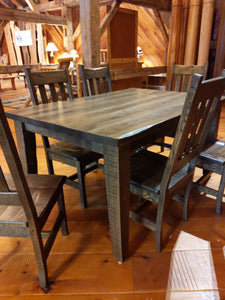 Oak Distressed Grandpa Farm Table