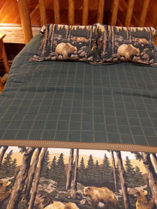 Bear Quilt and Pillow Covering Set