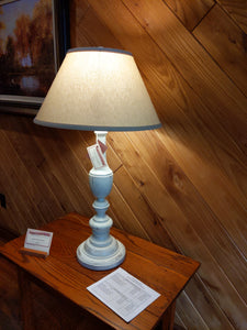 Cooper Wood Table Lamp in Kitty Hawk White