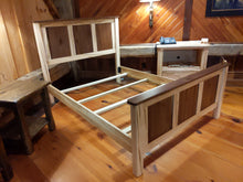 Load image into Gallery viewer, Wormy Maple and Walnut Queen Bed Frame