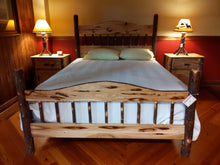 Load image into Gallery viewer, Hickory Queen Bed with Bark Accents