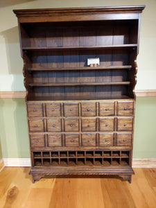 Apothecary Cabinet in Solid Pecan
