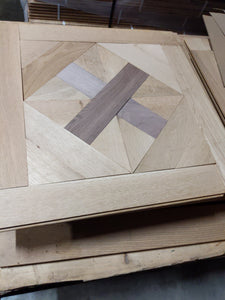 92 Square Feet of White Oak and Walnut Inlay ms-1220