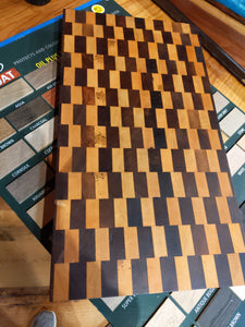 Walnut and Oak Checkerboard Butcherblock