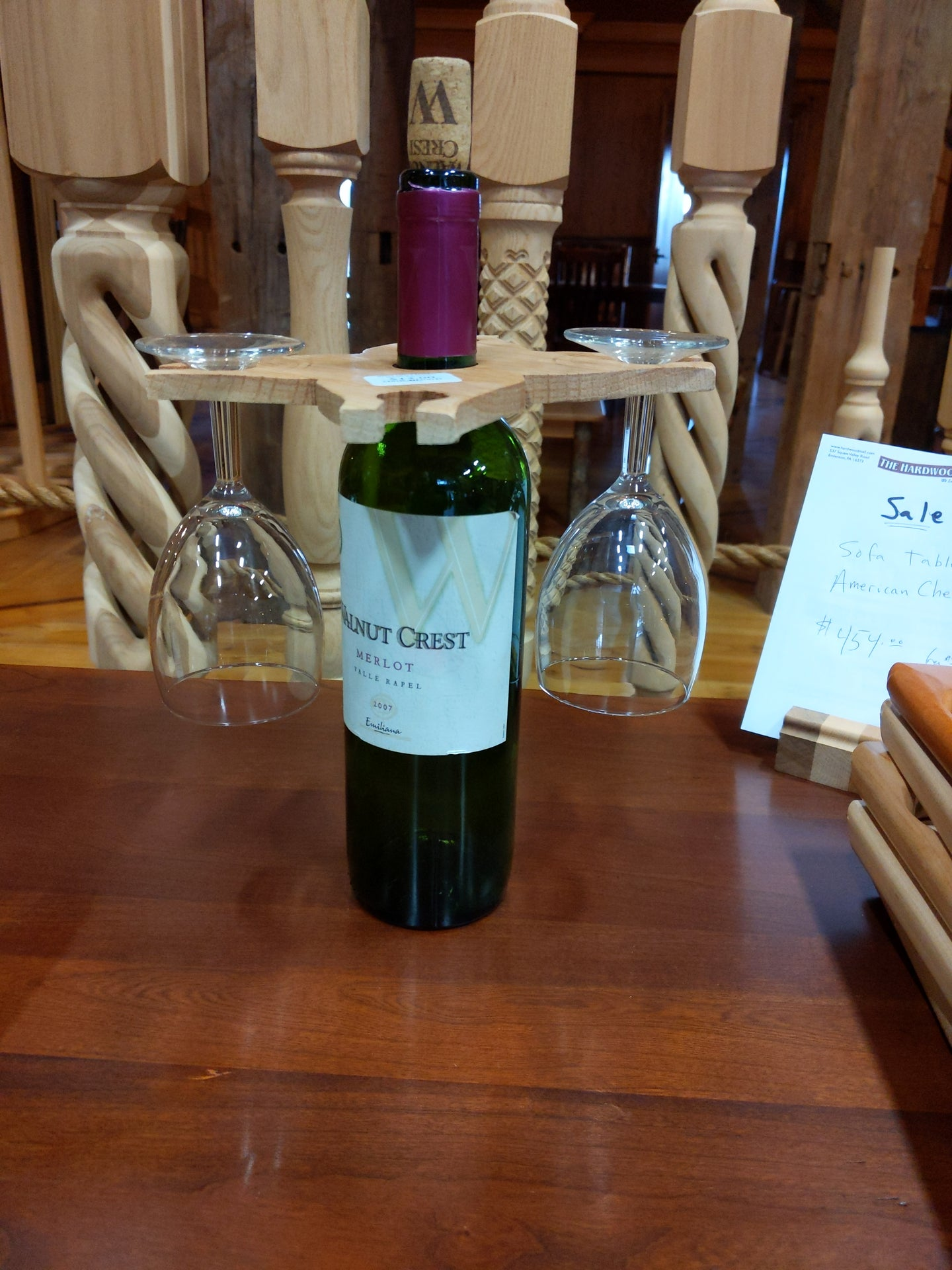 Wine Glass Holders holds 4