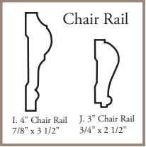 Load image into Gallery viewer, Chair Rail