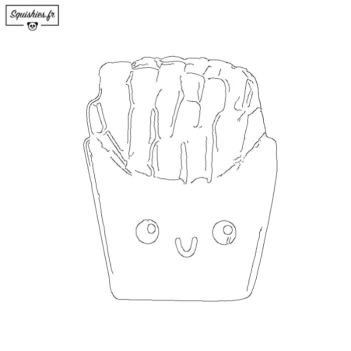 coloriage squishy frite