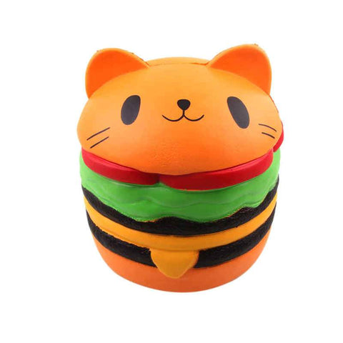 squishy géant chat hamburger