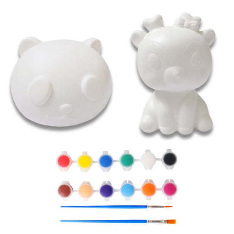 kit squishy à peindre kawaii