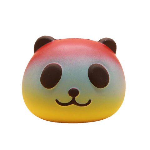 squishy tete de panda multicolore