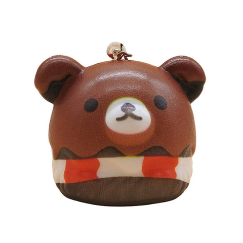 squishy tete ours marron