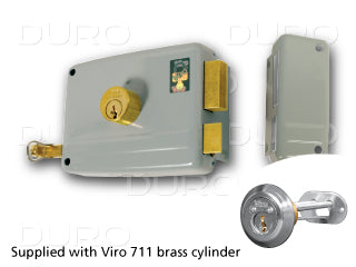 VIRO 1.7504.1.711.1 Rim Door Lock - Inward Right Hand