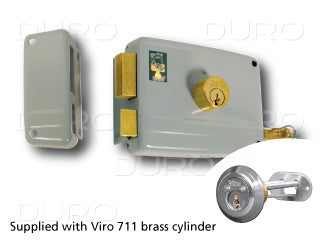 VIRO 1.7504.1.711.2 Rim Door Lock - Inward Left Hand
