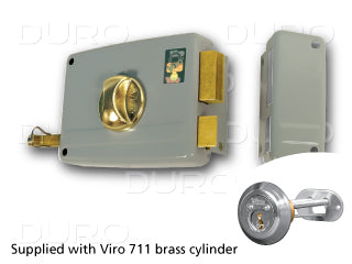 VIRO 1.7604.1.712.1 - Rim Door Lock - Inward Right Hand