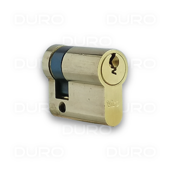 VIRO 1.772.PV - Euro Profile Half Cylinder - Brass Body - Patented Key