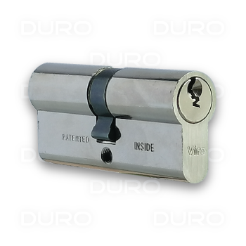VIRO 725.9.PV - Euro Profile Double Cylinder - Nickel Plated Brass Body - Patented Key