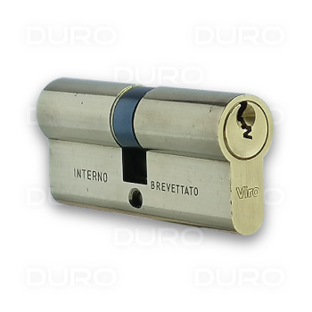 VIRO 725.PV - Euro Profile Double Cylinder - Brass Body - Patented Key
