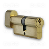 VIRO 740.1.PV - Euro Profile Single Cylinder with Thumbturn - Brass Body - Patented Key